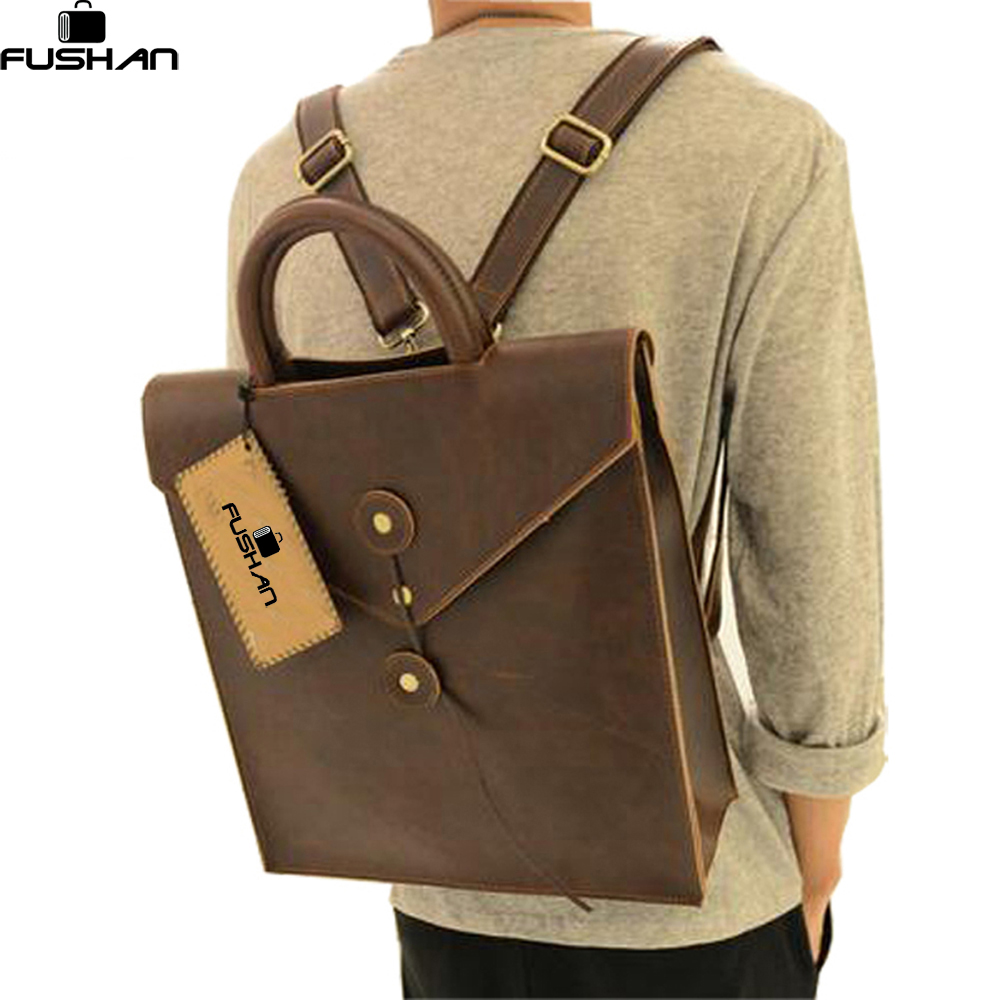 Young fashion new 2017 leather men bag casual male student backpack men backpacks mens travel bags school backpacks for women<br>