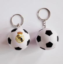 la liga madrid football team souvenir  football keychain,madrid  soccer  ball keyring ,4pcs/lot
