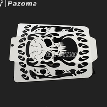Polished Stainless Steel Radiator Grill Guard Cool Skull Radiator Grill For Suzuki 2006-2014 Boulevard M109R