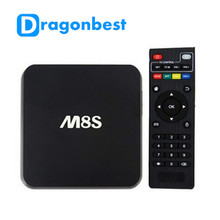 10pcs high quality M8S S812 Chip AP6330 4 K 2 G / 8 G Dual band wifi Android 4.4 Media Player M8 TV Box free shipping
