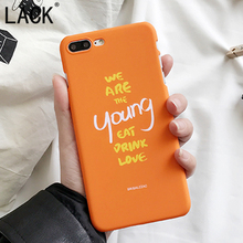LACK Cute Orange Phone Case Cartoon Letter Cover For iphone 6 frosted Hard PC Coque shell For iphone6 6S Plus Young Fundas Capa(China)