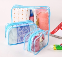 Bath Portable Transparent Waterproof Makeup Make up Cosmetic Bag Toiletry Bathing Pouch Soap Towel Storage Organizer Holder SML