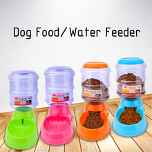 Practical 3.5L Automatic Pet Water Drink /Food Dispenser Dog Cat Feeder Water/Food Bowl Dish Pet Supplies #246447