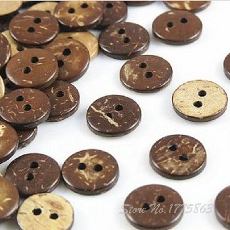 MOP mother of pearl  2,4 holes shell buttons Natural Brown 12 9mm~20mm