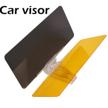 free shipping car anti dazzle car sun visor Day and night goggles combo visor Car TV dimming mirror Interior Accessories(China)