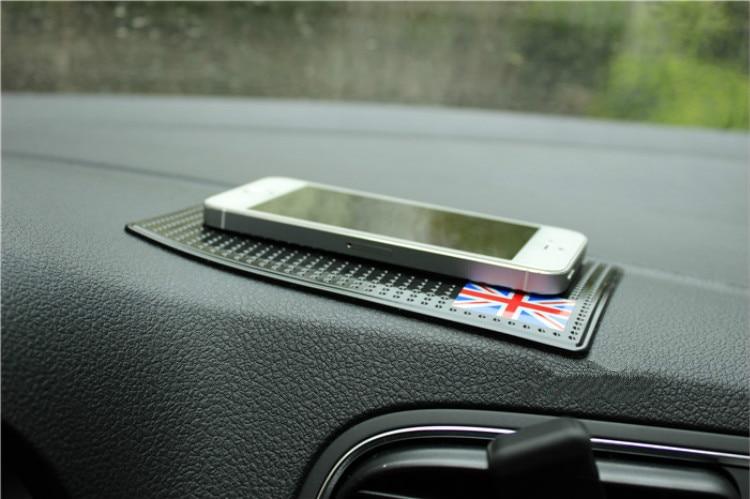 Mini Coupe Non-slip Mat Countryman Cooper Cars Pad Auto Anti Slip Mat Mobile Phone Mats Paceman Auto Gadget Interior Accessories