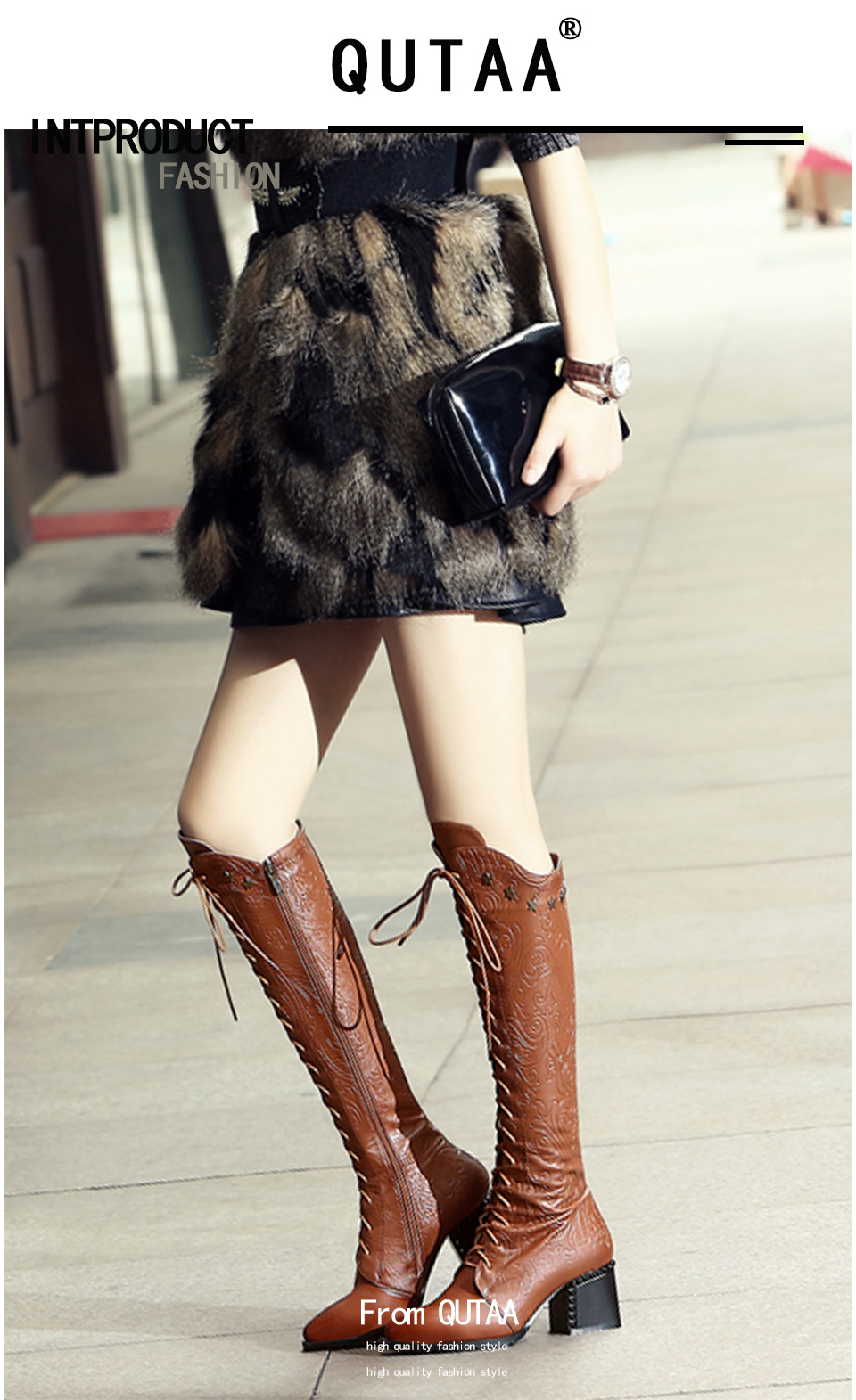 2018 Women's Over The Knee High Boots, Cow Leather, Fashion Lace Up Pointed Toe 10