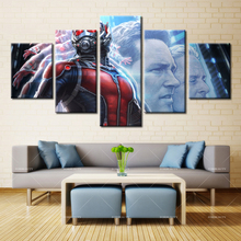 Forbeauty 5 Piece Canvas Painting Home Decor Framed Aaron Taylor Johnson the Avengers Alliance Quick Silver