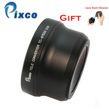 Pixco 67mm 2.0X Magnification Telephoto Tele Converter Lens suit For Camera Black+with Rubber Air Blower Pump Dust Cleaner