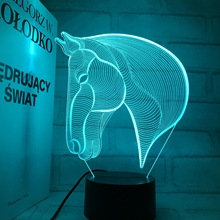 Led Toys Basket Lumineuse For The Electricity Supplier 3D Light Touch Led Visual Colorful Horse Lantern Gift Night Gradient