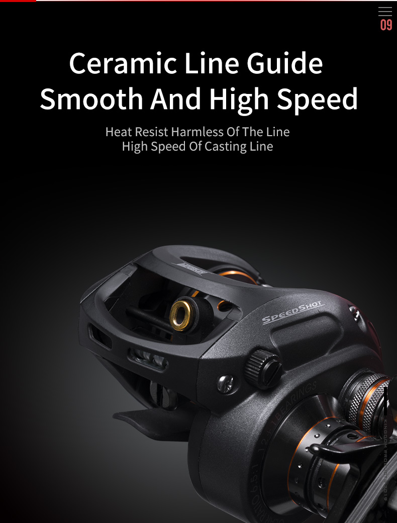 Kingdom SPEED SHOT MICRO 2019 New Double spool 6.51 High Speed Baitcasting Reel Ultralight 12+1 Ball Bearings Fishing Reel (10)