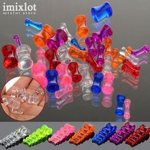 12Pcs Acrylic Transparent Ear Gauges Piercing Ear Plugs Tunnels Flesh Ear Piercing Body Jewerly 2-8mm