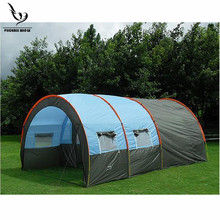 Large Camping tent Waterproof Canvas Fiberglass 5-8 People Two-Room Family Outdoor Equipment Mountaineering Tunnel Party Tents