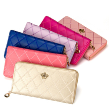 Universal Colorful Crown Leather Wallet Purse Phone Bag For Smart Phone For iPhone For Huawei With zipper With8 Credit card slot(China)