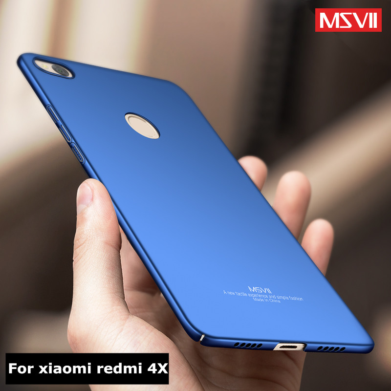 Xiaomi Redmi 4X Case Cover Msvii Luxury Ultra Thin PC Hard Back Cover Xiomi Redmi 4x 4xPro Prime global version phone Cases