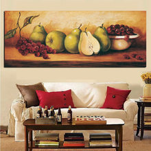 Digital Printed Still Life Painting Fruie Pear Grape Oil Painting On Canvas  Painting Picture Kitchen Wall Art Poster Home Decor