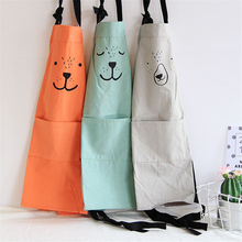 Cute Cotton Cooking Cartoon Apron Funny Novelty BBQ Party Couple Baking Kids Apron Parent Child Cooking Apron Painting avental(China)