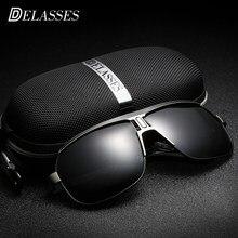 Metral UV400 DELASSES Vintage Marca Designer Óculos De Sol Dos Homens  Polarizados oculos de sol óculos 346836cbd3