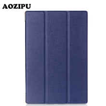 "Magnet Stand PU Leather Funda Case Protective Cover for Sony Xperia Z2(10.1"") Z3(8"") Z4(10.1"") Tablet eBook Case"
