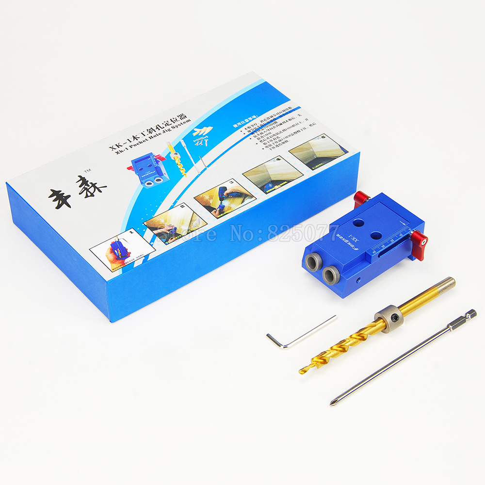 Mini Kreg Style Pocket Hole Jig Kit System For Woo...