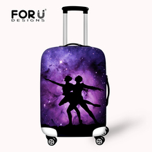 Novel Stretchable Travel Protective Waterproof Luggage Cover for 18-30 Inch Case Elastic Anti-dust Suitcase Cover With Zipper(China)