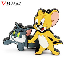 VBNM Tom and Jerry USB Flash drive cat mouse pen drive pendrive 4gb 8gb 16gb 32GB memory stick u disk free shipping(China)