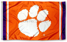 Clemson Tigers Jersey Stripes Flag 3x5 FT NCAA 150X90CM Banner 100D Polyester Custom flag grommets 6038,free shipping