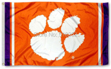Clemson Tigers Jersey Stripes Flag 3x5 FT NCAA 150X90CM Banner 100D Polyester Custom flag grommets 6038,free shipping(China)