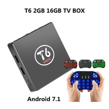 T6 Box TV S905X Android 7.1 Smart TV Box 2GB RAM 16GB ROM Amlogic S905X Quad Core Cortex A53 4K 2.4GHz WiFi Smart Set-Top Box