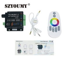 SZYOUMY DC12V 24V RGB LED Controller RF Music Audio Control 18A 3 Channel Music 2 For SMD 3528 5050 5630 Led Strip Light