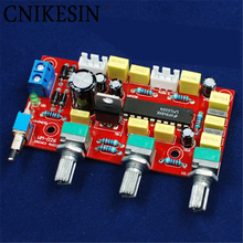 "CNIKESIN DIY electronice suite Before ""HIFI LM1036 plate tones Power amplifier front plate parts kit diy kit(China)"