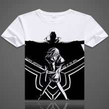 Free Shipping Anime CODE GEASS Lelouch Lamperouge Clothing DIY Costume White T-shirt