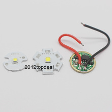 CREE 10W XPL XP-L V5 V6 Led Emitter Light WHITE Diode Chip 16MM 20MM Aluminum PCB+Input 16mm 3.7V LED driver