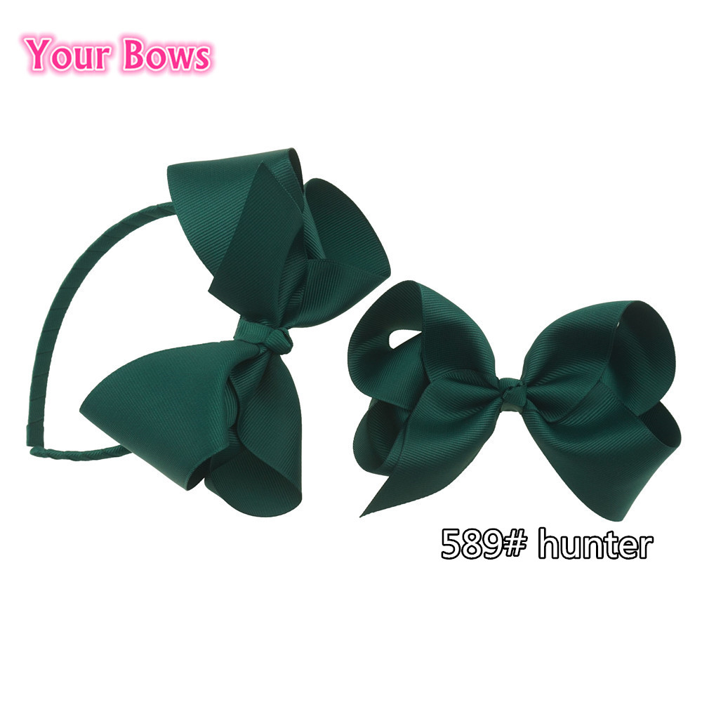 Bows 2Pcs Alice HairBands UK School Uniform Colors Hair Bows Student Hairpins Headwear Baby Children Hair Accessories