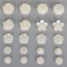 Best Selling Flower Flat Back Cabochon Imitation Plastic ABS Pearl Beads For DIY Jewelry Handmade Craft Making(China)