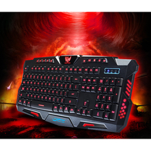 Triple Color Backlit Gaming illuminate Keyboard FIGHTING NATION Gamer Fluctuate Backlight LED USB Wired Russain Layout Version