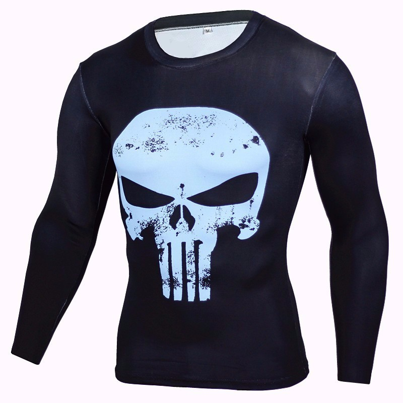 Marvel Gyms Clothing Fitness Compression Shirt Men Batman t-shirt men Long Sleeve 3D t shirt men Crossfit Tops tee shirt homme 45