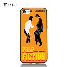 Pulp Fiction Dance Fun Art For iPhone 6 6s 7 Plus Case TPU Phone Cases Cover Mobile Protection Decor Gift(China)
