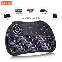 Zeepin TZ P9 2.4GHz Wireless Mini Keyboard Air Mouse with Backlit Li Battery Remote Control Touchpad for Android Google TV Box