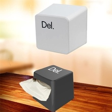 HearTogether Brand Napkin Holders Tissue Box Durable Keyboard Key Tissue Paper Box Holder for Car Home
