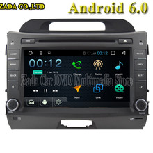 NAVITOPIA 8 inch 1024*600 Quad Core 16G Android 6.0 Car DVD multimedia for KIA Sportage r With GPS Map 3G wifi Radio Audio