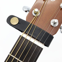 Leather Guitar Strap Holder Button Safe Lock for Acoustic Electric Classic Guitarra Bass(China)