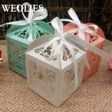 Candy Box 50pcs Paper Paris Eiffel Tower Gifts Baby Shower Favor Gift Box Christmas Wedding Party Supplies Wedding Favors(China)