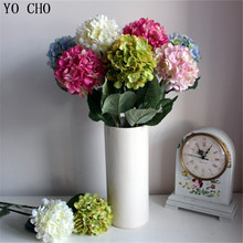 [ 59 cm] (20pcs/Lot) High Quality Decorative Flower Pink Artificial Hydrangea Silk Flowers For Wedding Party Hotel Christmas