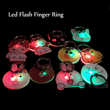 2017 NEW LED Mobile Phone Finger Ring Bracket Flashing Novelty Light 360 Degree Rotatable Phone Stand Holder Universal Accessory(China)