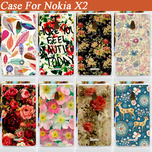 11 Styles pattern painting beautiful flowers hard plastic Case For Nokia X2 Dual SIM RM-1013 X2DS Case Cover