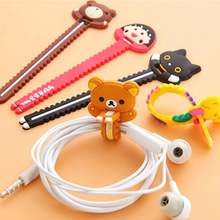 Cute Monsters University Cartoon Bear Cable Tie Cord Organizer Headset Headphone Earphone Wrap Winder/ Fixer Holder/cord Manager