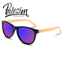 Bamboo Foot Sunglasses Vintage Round Mirror Glasses Men And Women Cat eye Sunglasses Wooden Brand Designer gafas de sol UV400