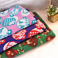 100*180cm jam GRAND GROUND panda knitted Terry Cotton fabric For Sewing diy Patchwork ,BABY Child clothes(China)