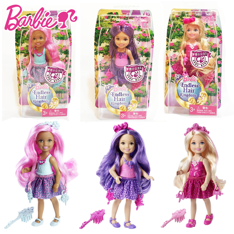Barbie Doll Fashion Combo American Girl Dolls With Hair Small Kelly Babies Boneca Brinquedos For Children Birthday DKB54<br><br>Aliexpress